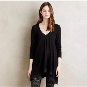 Anthropologie Deletta V-neck Black Sweater